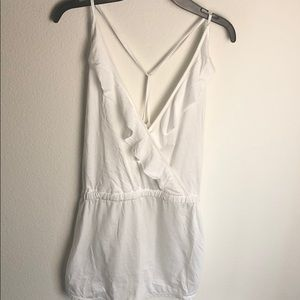 TopShop White Romper With Exposed Back